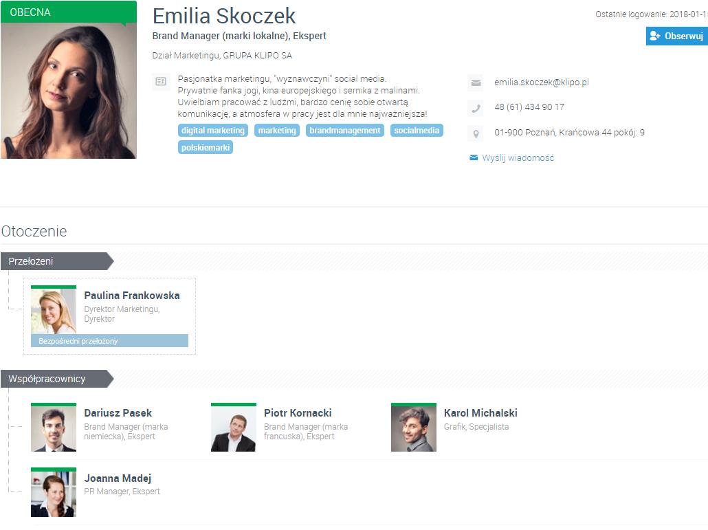 profile pracowników